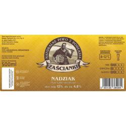 etykieta Nadziak butelka 0,5L